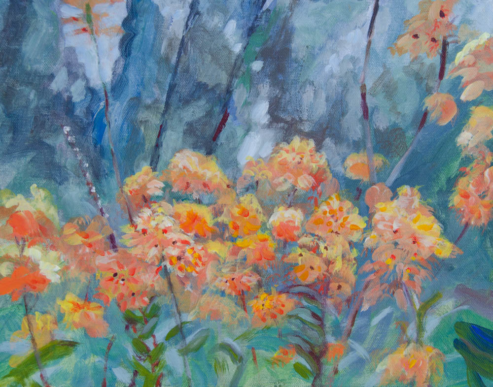 """16 Galphimia Glauca, Acrylic on Canvas, 11x14"""" $900"""