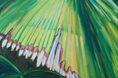 "06 Fan Palm Leaf, Acrylic on canvas, 18 x 24"" $2000"