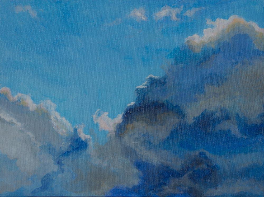 "03 Going Inside the Cloud , Acrylic on Canvas, 9 x 12"",  $900"
