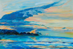 "02 Eagle Wing Sunset, Oil on canvas, 16 x 20"",  $1600"