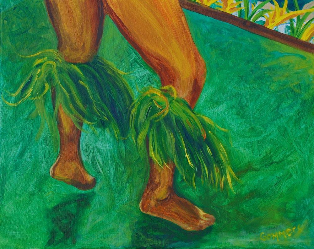 "08 Tahitian Dancer I, Acrylic on canvas, 16 x 20"", $1500"