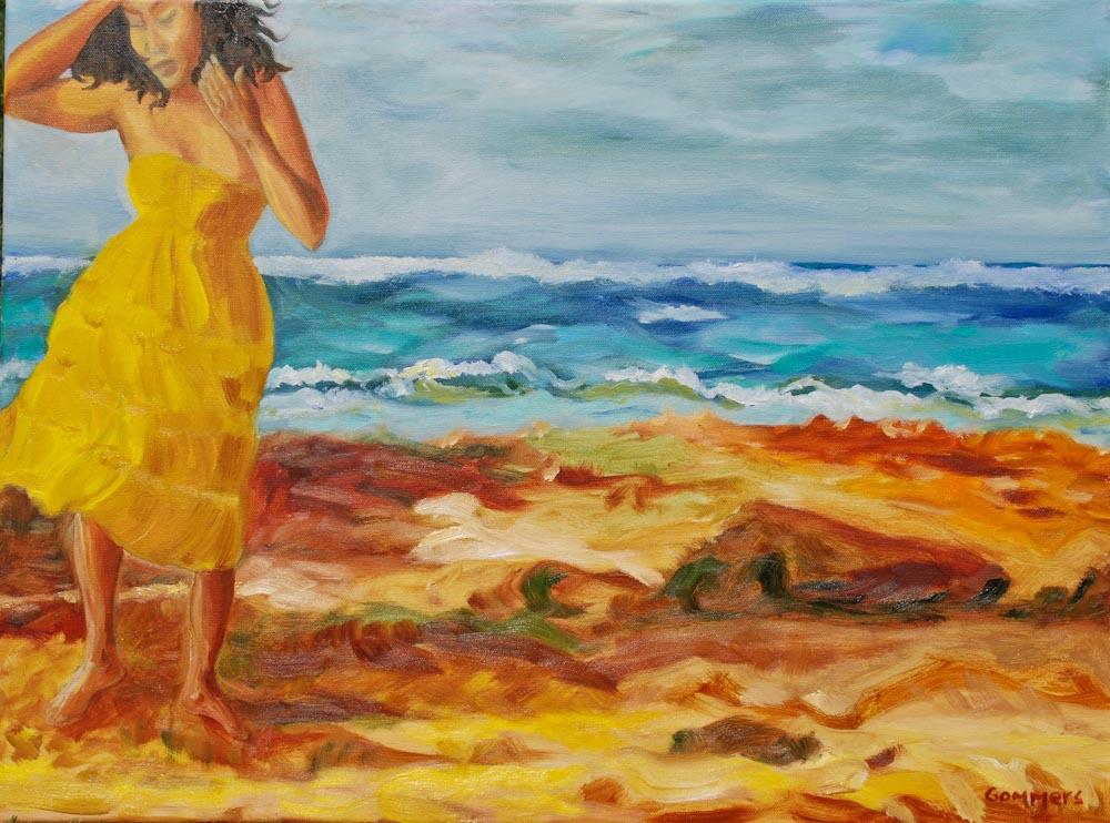 """04 Hawaiian Woman I, Oil on canvas, 18 x 24"""" (sold)"""