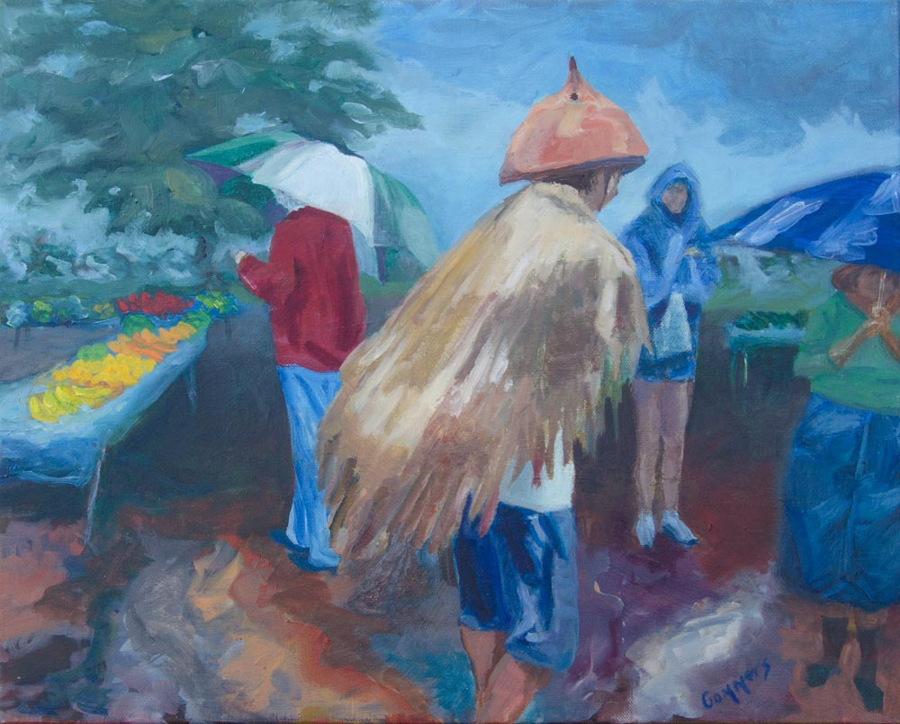 "06 Waialua Farmers Market,   Oil on Canvas, 16x20"", $1600"