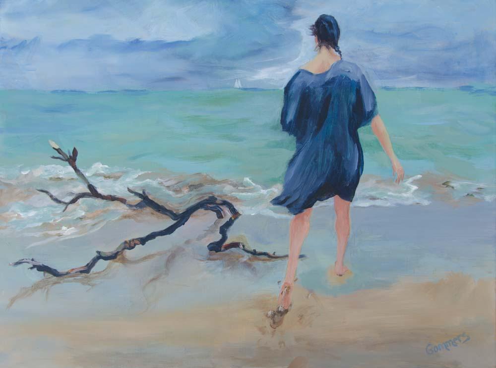 """03 Far Away, Acrylic on canvas, 16x20"""", (sold)"""
