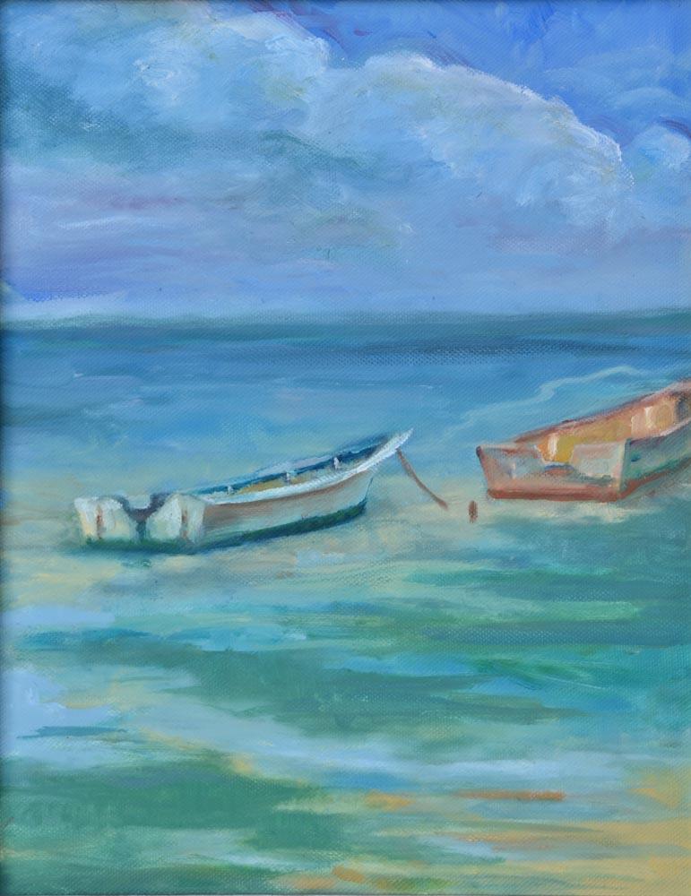"""12 Odd Couple, Oil on canvas, 11 x 14"""",  $800"""