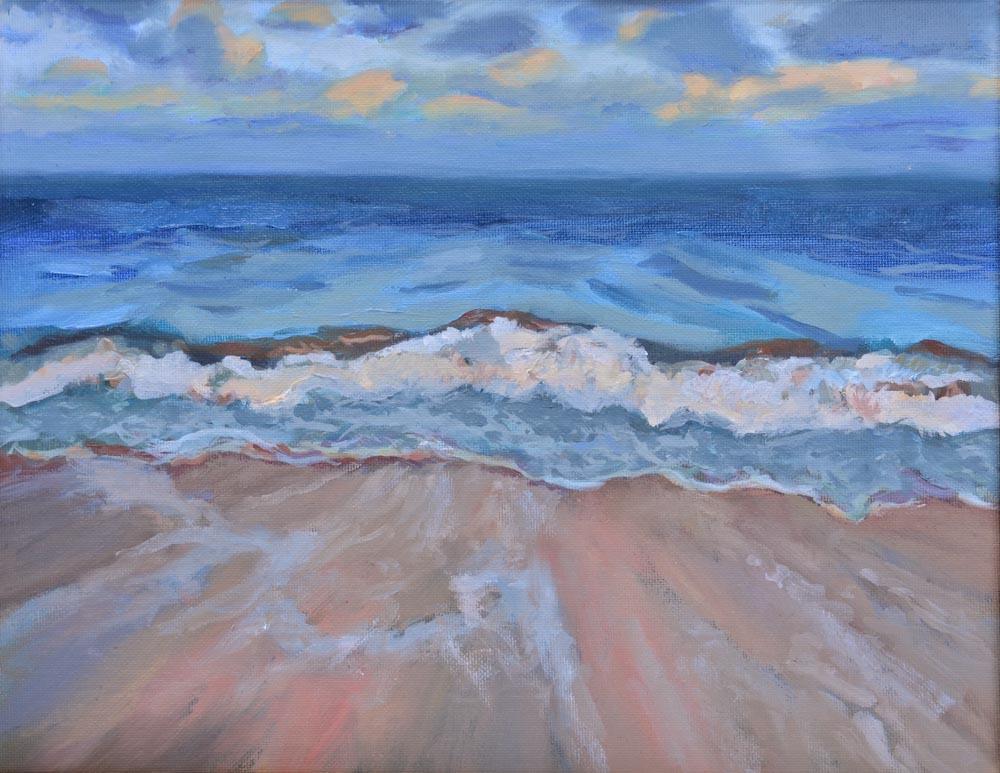 "03 Copper Beach, Oil on canvas, 11 x 14"",  $900"