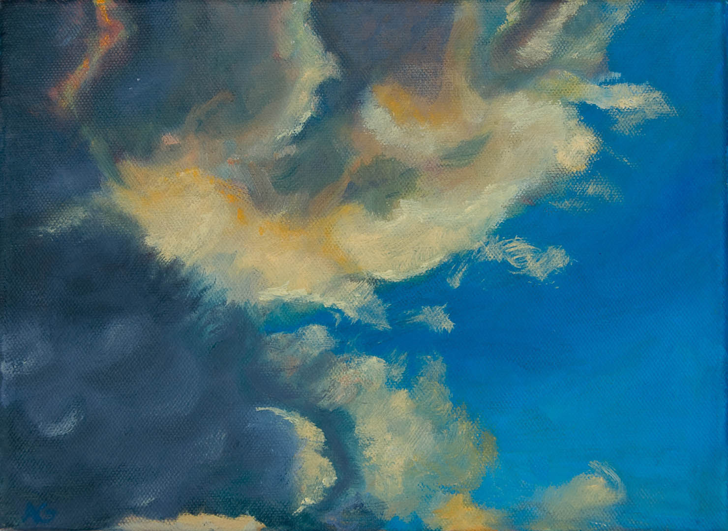 02 Clouds I, Oil on Canvas 8x10 $650