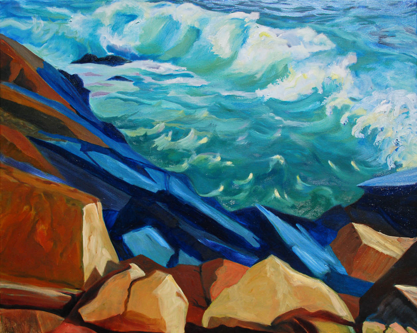 "04 Quoddy Coast, Oil on canvas 24 x 30"", $2600"
