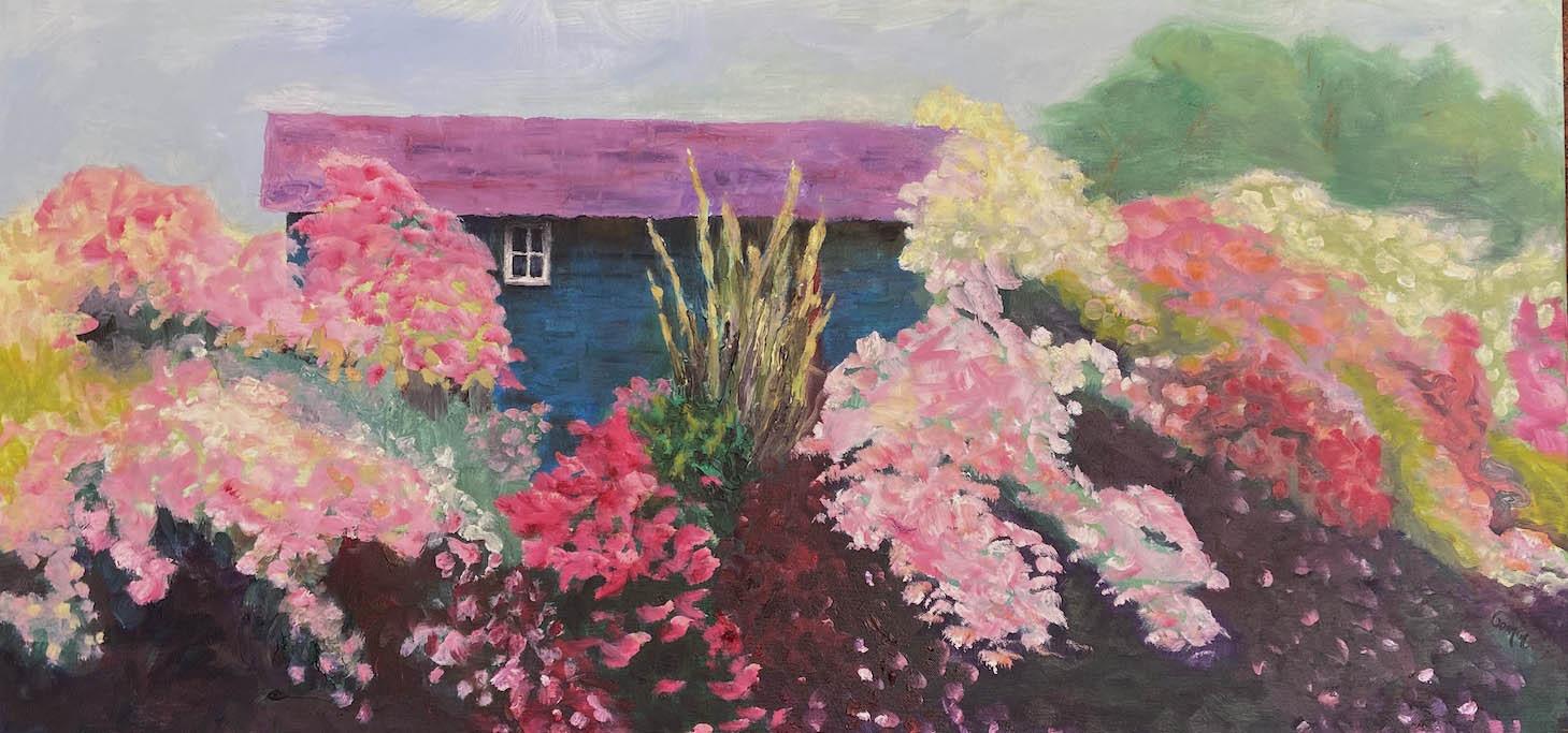 """03 Hidden Window, Oil on Canvas, 18 x 36"""""""